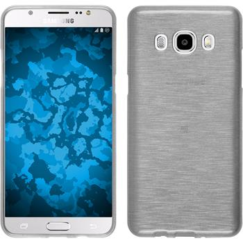 Silikon Hülle Galaxy J5 (2016) J510 brushed weiß + 2 Schutzfolien