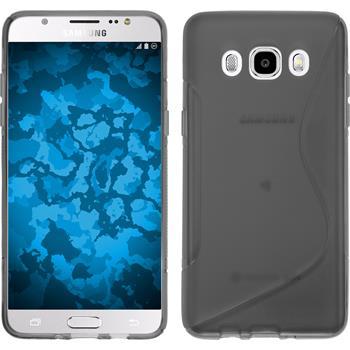 Silikonhülle für Samsung Galaxy J5 (2016) J510 S-Style grau