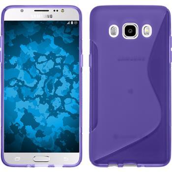 Silikon Hülle Galaxy J5 (2016) J510 S-Style lila