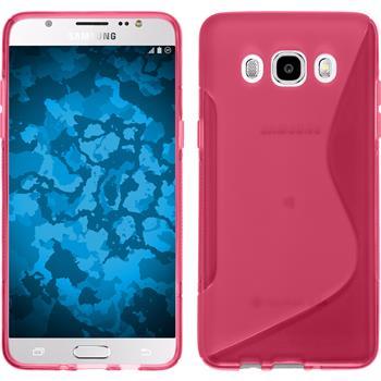 Silikon Hülle Galaxy J5 (2016) J510 S-Style pink
