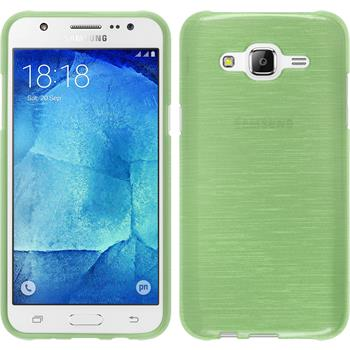 Silikon Hülle Galaxy J5 (J500) brushed grün