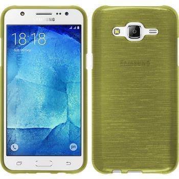Silikonhülle für Samsung Galaxy J5 (J500) brushed pastellgrün