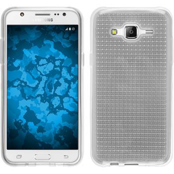 Silikon Hülle Galaxy J5 (2015 - J500) Iced clear + 2 Schutzfolien