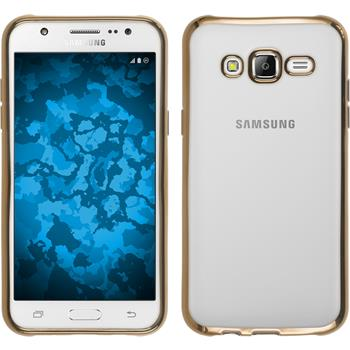 Silikon Hülle Galaxy J5 (J500) Slim Fit gold