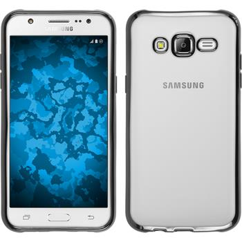 Silikon Hülle Galaxy J5 (J500) Slim Fit grau
