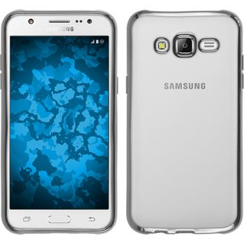 Silikon Hülle Galaxy J5 (J500) Slim Fit silber