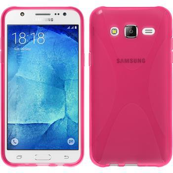 Silikon Hülle Galaxy J5 (J500) X-Style pink