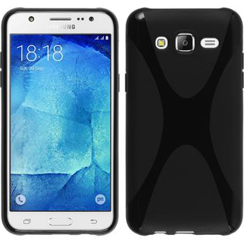 Silikon Hülle Galaxy J5 (J500) X-Style schwarz