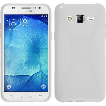 Silikon Hülle Galaxy J5 (J500) X-Style weiß