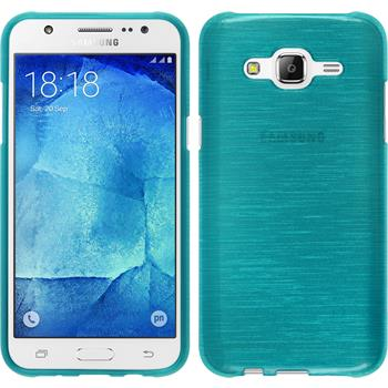 Silikonhülle für Samsung Galaxy J7 brushed blau