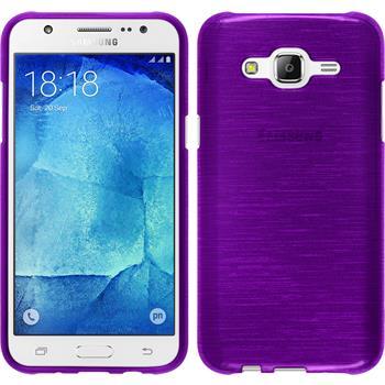 Silikonhülle für Samsung Galaxy J7 brushed lila