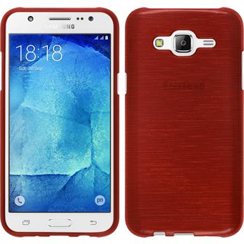Silikon Hülle Galaxy J7 brushed rot