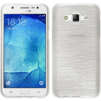 Silikon Hülle Galaxy J7 brushed weiß