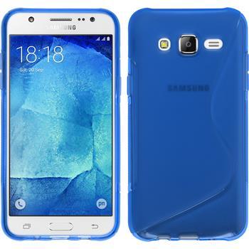 Silikon Hülle Galaxy J7 S-Style blau