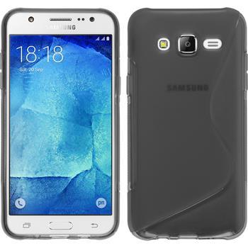 Silikon Hülle Galaxy J7 S-Style grau