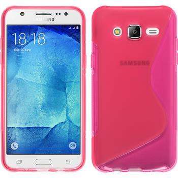 Silikon Hülle Galaxy J7 S-Style pink
