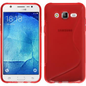 Silikonhülle für Samsung Galaxy J7 S-Style rot