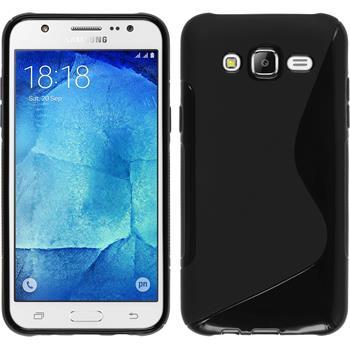 Silikon Hülle Galaxy J7 S-Style schwarz