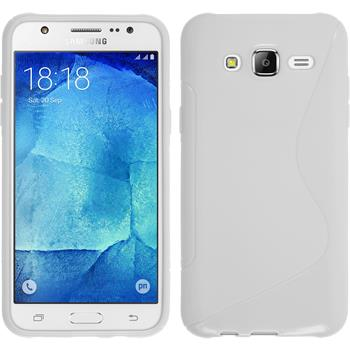 Silikon Hülle Galaxy J7 S-Style weiß