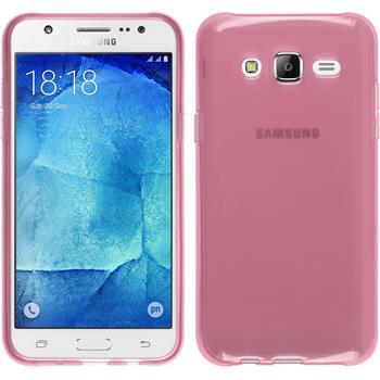Silikon Hülle Galaxy J7 transparent rosa
