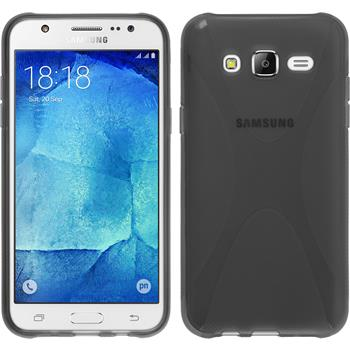 Silikon Hülle Galaxy J7 X-Style grau