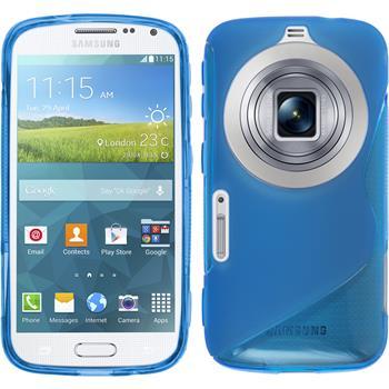Silikon Hülle Galaxy K Zoom S-Style blau
