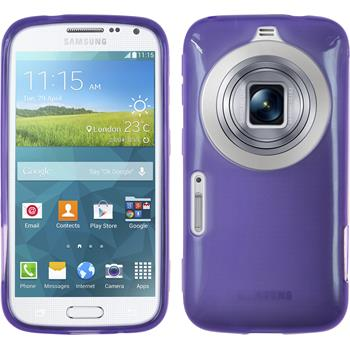 Silicone Case for Samsung Galaxy K Zoom transparent purple