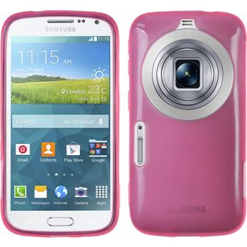 Silikon Hülle Galaxy K Zoom transparent rosa