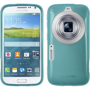 Silikon Hülle Galaxy K Zoom transparent türkis