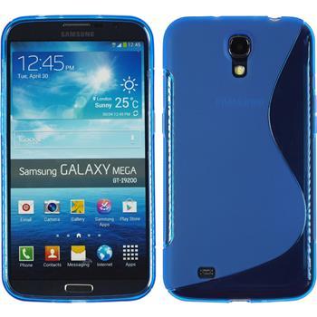 Silikon Hülle Galaxy Mega 6.3 S-Style blau