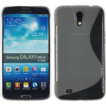 Silicone Case for Samsung Galaxy Mega 6.3 S-Style gray
