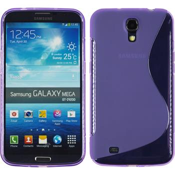 Silicone Case for Samsung Galaxy Mega 6.3 S-Style purple