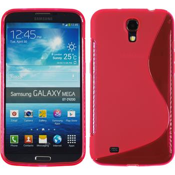 Silicone Case for Samsung Galaxy Mega 6.3 S-Style hot pink
