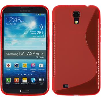 Silicone Case for Samsung Galaxy Mega 6.3 S-Style red