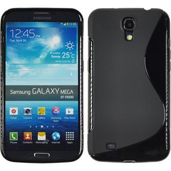 Silikon Hülle Galaxy Mega 6.3 S-Style schwarz