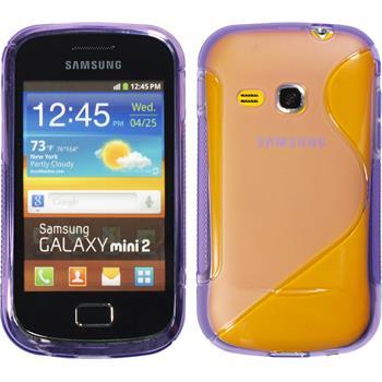 Silikon Hülle Galaxy Mini 2 S-Style lila + 2 Schutzfolien