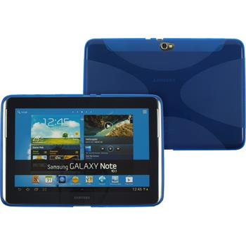 Silikonhülle für Samsung Galaxy Note 10.1 X-Style blau