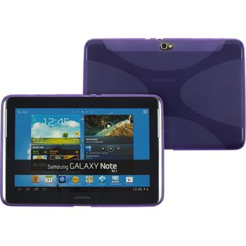 Silicone Case for Samsung Galaxy Note 10.1 X-Style purple