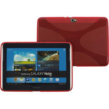 Silicone Case for Samsung Galaxy Note 10.1 X-Style red