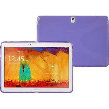 Silicone Case for Samsung Galaxy Note 10.1 2014 X-Style purple