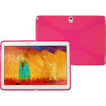 Silicone Case for Samsung Galaxy Note 10.1 2014 X-Style hot pink