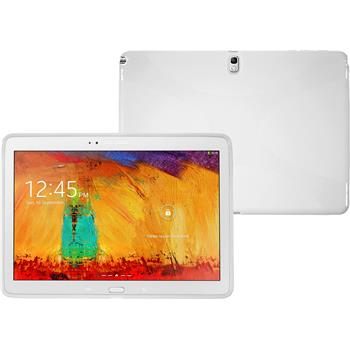 Silicone Case for Samsung Galaxy Note 10.1 2014 X-Style white