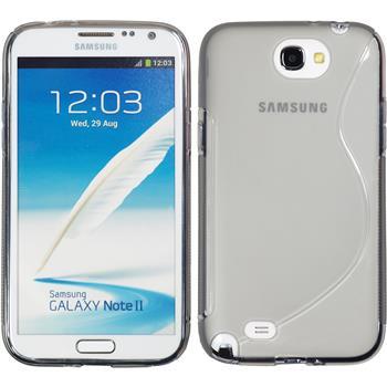 Silikonhülle für Samsung Galaxy Note 2 S-Style grau