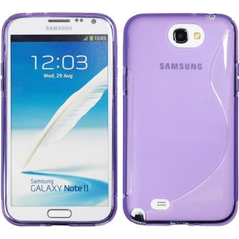 Silicone Case for Samsung Galaxy Note 2 S-Style purple