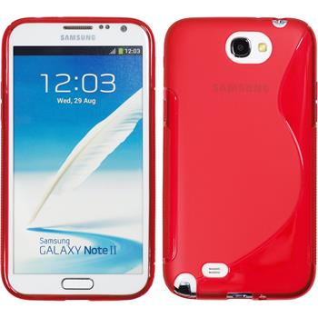 Silicone Case for Samsung Galaxy Note 2 S-Style red