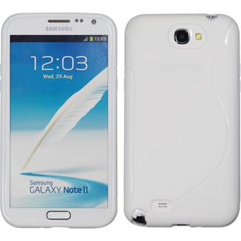 Silicone Case for Samsung Galaxy Note 2 S-Style white