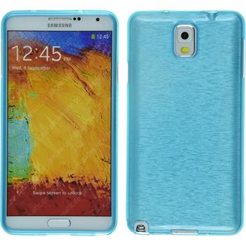 Silicone Case for Samsung Galaxy Note 3 brushed blue