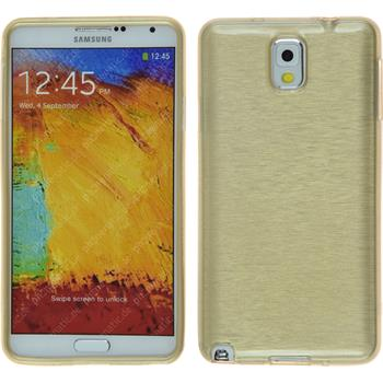 Silikon Hülle Galaxy Note 3 brushed gold