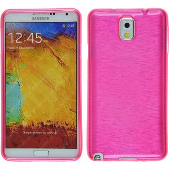 Silicone Case for Samsung Galaxy Note 3 brushed hot pink