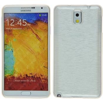 Silicone Case for Samsung Galaxy Note 3 brushed white